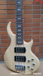 Wholesale Best strings Bass Natural One piece Body BASS Active pickups China Electric Bass guitar