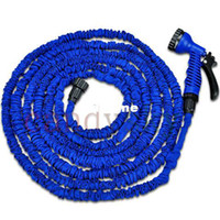 Cheap Wholesale-Blue 50 FT Ultralight Thicken Inner Pipe Flexible 3X Expandable Garden Water Hose High-pressure Fit for USA EU Standard