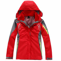 coat - New Women Fleece Outdoor Jacket Double Layer in1 Waterproof Breathable Hiking Jacket Women s Windbreaker Coats Color
