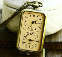acrylic buyer - Coupon for buyer price good quality fashion lady woman girl yellow quartz nice new bronze double movement pocket watch