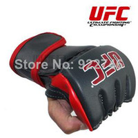 mma gloves - 2014 NEW MMA Fight gloves boxing gloves PU leather and breathable fiber material Professional boxing glove