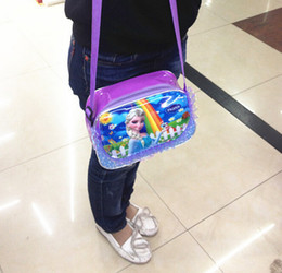 Wholesale Frozen bags Children Fashion Cartoon handbags kids Small shoulder bags children day s gift children frozen purse