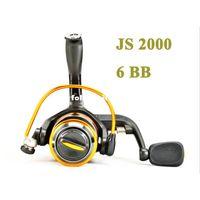 Cheap Free shipping 6BB Spinning Fishing reel JS2000 Abu garcia best fishing reel Banax Coil equipment for fishing tackle Penn