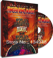 Wholesale World s Greatest Magic Finger Ring magic fast delivery send via email magic teaching video Close up magic