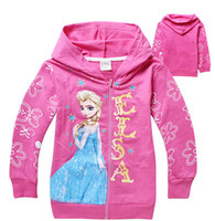 Wholesale Frozen Elsa Children Outerwear amp coats Brand Cartoon Jackets Winter Autumn Baby Kids Hoodies Girls Clothing