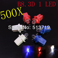 Wholesale 500X B8 D T5 LED bulbs console light bulb instrument tray lamp speed table