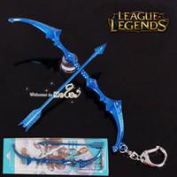 Blue arms weapons - Exquisite LOL Accessories League of Legends Weapon Keychains Ashe Archer Model The Frost Archer Arms Cheap Zinc Alloy Hang Buckle Mewol L1