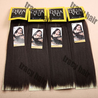synthetic hair yaki weave hair - 6PC Fast Shipping DEJAVU YAKI WAVE quot quot quot quot Human Hair Mix Synthetic Hair Extension Color1 B Premium Blend Hair Weave Free Gift