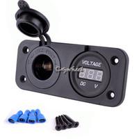 Wholesale 12 V Car Motorcycle Cigarette Lighter in Socket Power Power Outlet Plug And Voltmeter Socket SV003366