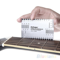 Wholesale 2piece Durable String Action Ruler Gauge Tool in mm For Guitar accessory Bass Mandolin Banjo