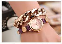Wholesale New Fashion Quartz Metal hand chain Bracelet Women s Wrist Watch student watch Colors