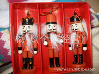 Wholesale Factory outlets shelf CM painted nutcracker ornaments Christmas ornaments Christmas ornaments