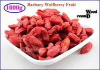 al por mayor las bayas de goji orgánico al por mayor-Al por mayor-1000g Goji Berry orgánica seca Wolfberry Ning Xia Barbary Wolfberry fruta de Goji Berry 1kg Té (2.2LB) china a base de plantas Lycii