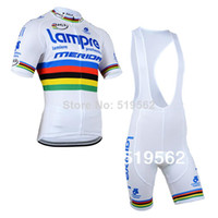 Wholesale 2014 sports men s lampre ciclismo MERIDA ropa ciclismo clothing Bicycle bike maillot cycling jerseys bibs shorts