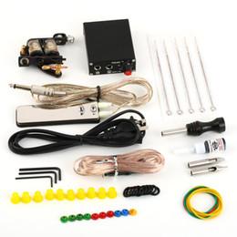 Wholesale 2 set Complete Tattoo Kit Set Equipment Machine Power Supply Gun Color Inks