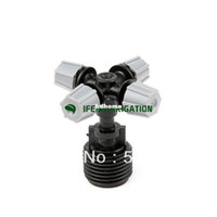 Wholesale pack four ways fog nozzles sprayer for cooling gray colors