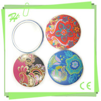 Wholesale Classical Floral Pattern Featured High Quality Factory Pocket Mirror