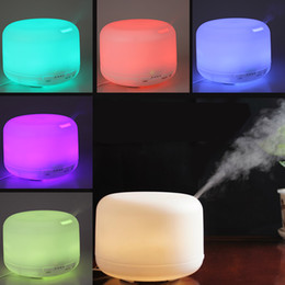 Wholesale 2015 PROMOTION Colorful LED Mhz Ultrasonic ML Aroma Diffuser Atomizer Air Humidifier HOA_326