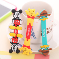 Wholesale free shinppingCartoon winder button cable management clip Hub Data winding headphone cable winder