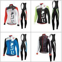 Cheap 2013 tour de france Castelli Winter Thermal Fleece Cycling Jersey Long Sleeve and Cycling (bib) Pants GTZ028