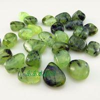 Cheap Natural green bitahai of willow nunatak chiltonite rock gems mine black tourmaline energy chakra charm stone wholesale 10mm-16mm