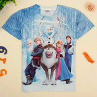 Wholesale nova kids clothing y to y boys frozen t shirts cartoon Elsa Anna D perfect printing tshirts baby summer clothes in stock C5170Y