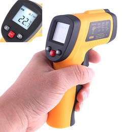 Wholesale HOT sale Non Contact LCD Baby Digital IR Infrared Thermometer to LCD Display With Laser Gun DHL H4331