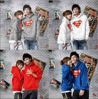 Wholesale Unisex sportswear lovers Hoodies Sweatshirts spring autumn winter Fleece Superman sweatshirt with hood hoodie pullover color