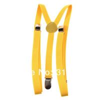 Wholesale 1pcs Adjustable Clip on Unisex Full Elastic Y back suspender Suspenders Brand New