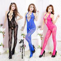 Cheap 2014 New Fashion Sex Dolls,Lace Pajamas kimono,sexy exotic fishnet lingerie set with stockings for women Free Shipping #SX14010