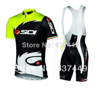 Wholesale New Sidi Pippo Sidi Lampre Cycling Jersey bib Shorts Bicicletas Bike Ropa De Ciclismo Maillot Bike Clothes Set Sportswear