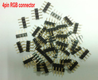 Wholesale 4pin RGB connector pin needle male type double pin small part for LED RGB and strip