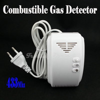 Wholesale Wireless Combustible Gas Detector for GSM PSTN Burglar Auto Dial Alarm System Security Home Alarms Mhz