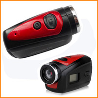 Wholesale HD P Mini Portable Camcorders Waterproof Outdoor Sport Video Camera Mega Pixels Angle Camera Lens Action DV F22 with Retail Box