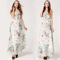 Cheap Casual Dresses Butterfly Printed Dress Best Bohemian Dresses Summer Maxi Dress