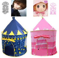 2 to 4 Years Unisex  Children Tent Kids Play Game House pink blue lovely tent castle outdoor Beach Popuptent baby free shipping