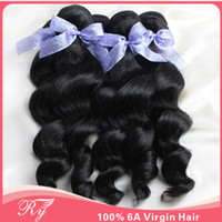 Wholesale AAAAAA queen love hair unprocessed human hair top quality brazillian virgin hair loose wave can be hot dyed