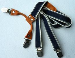 Wholesale High Quality Children Baby Clip Shoulder Belt Kids Leather Adjustable Suspenders Elastic Brace Boys Girls Pants Folder I1387