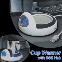 Wholesale Multi Function Cup Warmer with USB Hub Time Display USB Supply Power HOA_520