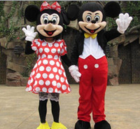 Wholesale mickey mouse cartoon mascot costume lovely mickey and minnie mouse cartoon mascot costume cartoon character costume