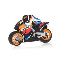 Wholesale Cool Sport Motorcycle USB Flash Memory Drives Stick Pen Drive moto Full GB GB GB GB Motorbike USB Flash Drives Disk
