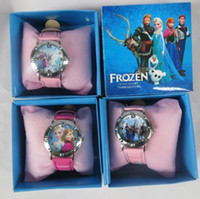 Wholesale frozen watch kids fashion quartz cartoon Jelly Candy led with box Cute Lovely Girl woman lady Watch