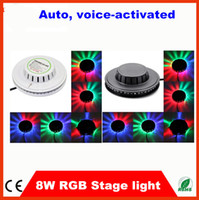 Wholesale 5pcs for KTV christmas decoration W leds sound activated led sunflower light led lighting led stage light RGB bulb EU US plug