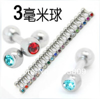Tongue Rings Unisex Body Jewelry Free Shipping Nickel-free stainless steel mix 8 color body jewelry piercing tragus earring tongue ring ear stud