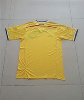Wholesale World Cup Colombia Team Home Yellow Color Soccer Jerseys Top Quality Customized Soccer Jersey Shirts Size S to XL