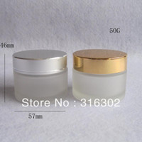 Wholesale g frost glass cream jar glass container cosmetic packaging