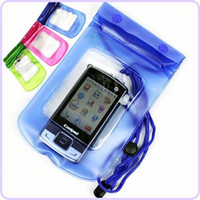 Wholesale Camera cellphone mobile phone waterproof pouch bag case for MP3 MP4 Iphone S S samsung HTC LG Waterproof Pouch bag case DHL