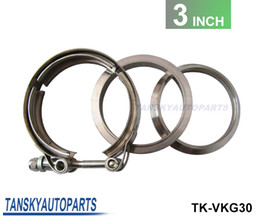 Wholesale 2013 TANSKY Universal Upgraded inch Auto Parts V band clamp kit for Turbo Exhaust pipes TK VKG30