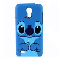 i9195 - 1PC Cute Cartoon Design Blue Stitch Hard Plastic Back Case Cover Shell for Samsung Galaxy S4 Mini i9190 i9195