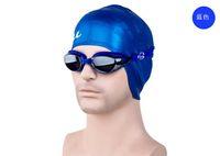 Wholesale genuine plating plain water fog goggles HD unisex Adult Swim big box glasses